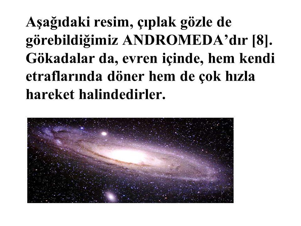 Aşağıdaki resim, çıplak gözle de görebildiğimiz ANDROMEDA'dır [8]